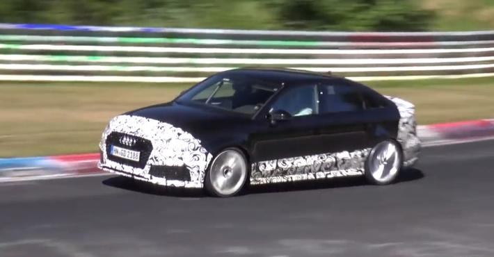 На уличных тестах вГермании замечен седан Ауди RS3