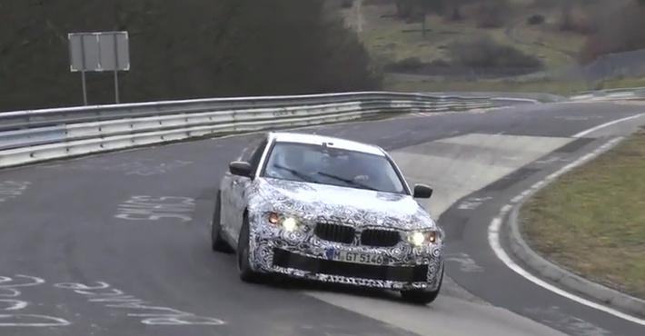 Прототип BMW 5-й серии попал на видео