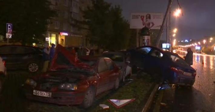 В столицеРФ столкнулись 5 авто