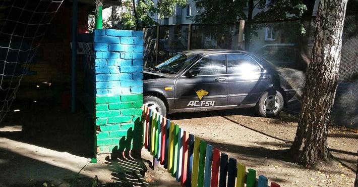 ДТП в детском саду Новосибирска