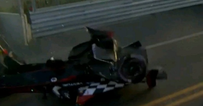 авария на Формуле Е
