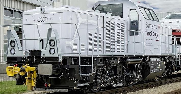 гибридный локомотив Audi