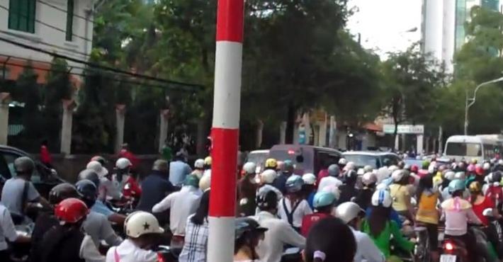 скутеристы в Тайване