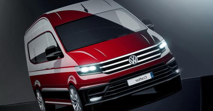 Фольксваген продемонстрировал эскизы нового фургона Crafter