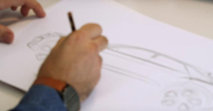 Фольксваген анонсирует небольшой вседорожный автомобиль T-Roc наскетчах