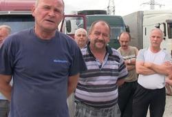 дальнобойщики на переправе в Крым