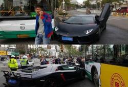 ДТП с участием  Lamborghini Aventador в Китае