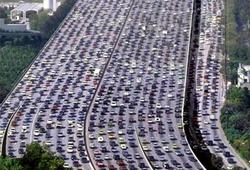 пробки в Китае