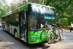 троллейбус с багажником для велосипедов
